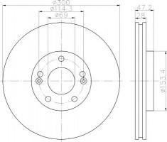 Комплект тормозных дисков TEXTAR 92166500 (2 шт.)