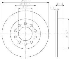 Комплект тормозных дисков TEXTAR 92166700 (2 шт.)