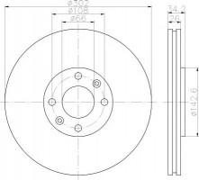 Комплект тормозных дисков TEXTAR 92168500 (2 шт.)