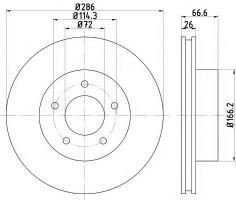 Комплект тормозных дисков TEXTAR 92169003 (2 шт.)