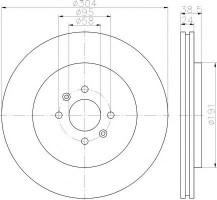 Комплект тормозных дисков TEXTAR 92170203 (2 шт.)