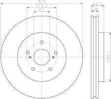 Фото 1 - Комплект тормозных дисков TEXTAR 92171503 (2 шт.)