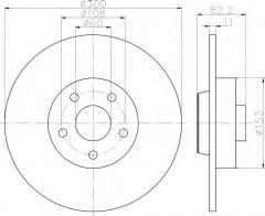 Комплект тормозных дисков TEXTAR 92175700 (2 шт.)