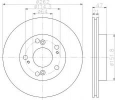 Комплект тормозных дисков TEXTAR 92175803 (2 шт.)