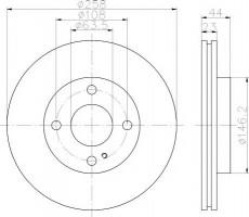 Комплект тормозных дисков TEXTAR 92176003 (2 шт.)
