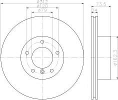 Комплект тормозных дисков TEXTAR 92176103 (2 шт.)