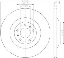 Комплект тормозных дисков TEXTAR 92177003 (2 шт.)