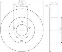 Комплект тормозных дисков TEXTAR 92177303 (2 шт.)