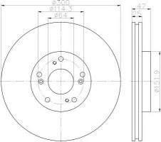 Комплект тормозных дисков TEXTAR 92177903 (2 шт.)