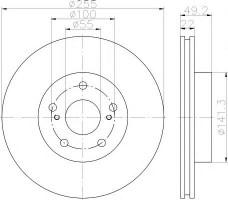 Комплект тормозных дисков TEXTAR 92179503 (2 шт.)