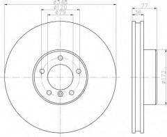 Комплект тормозных дисков TEXTAR 92182403 (2 шт.)