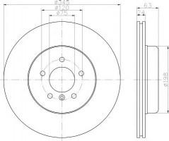 Комплект тормозных дисков TEXTAR 92182503 (2 шт.)