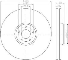Комплект тормозных дисков TEXTAR 92184203 (2 шт.)
