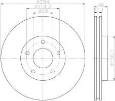 Комплект тормозных дисков TEXTAR 92184403 (2 шт.)