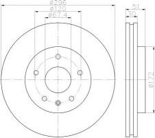 Комплект тормозных дисков TEXTAR 92186903 (2 шт.)