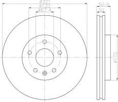 Комплект тормозных дисков TEXTAR 92187003 (2 шт.)