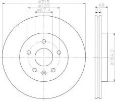 Комплект тормозных дисков TEXTAR 92187303 (2 шт.)