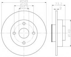 Комплект тормозных дисков TEXTAR 92194100 (2 шт.)