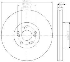 Комплект тормозных дисков TEXTAR 92194900 (2 шт.)