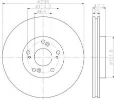 Комплект тормозных дисков TEXTAR 92195000 (2 шт.)