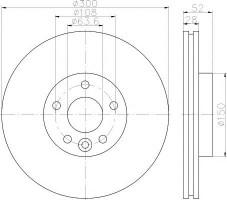 Комплект тормозных дисков TEXTAR 92196903 (2 шт.)