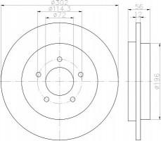 Комплект тормозных дисков TEXTAR 92197803 (2 шт.)