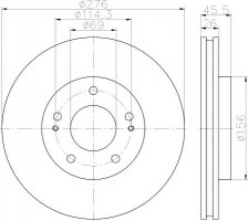 Комплект тормозных дисков TEXTAR 92198203 (2 шт.)