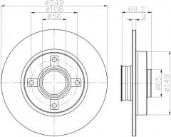 Комплект тормозных дисков TEXTAR 92202100 (2 шт.)