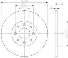 Комплект тормозных дисков TEXTAR 92202303 (2 шт.)
