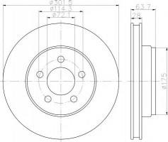 Комплект тормозных дисков TEXTAR 92203303 (2 шт.)