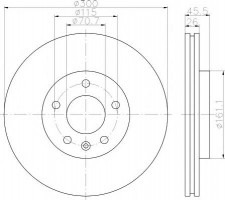 Комплект тормозных дисков TEXTAR 92205603 (2 шт.)