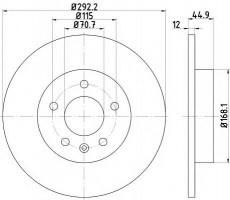Комплект тормозных дисков TEXTAR 92205703 (2 шт.)