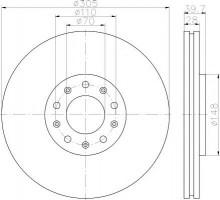 Комплект тормозных дисков TEXTAR 92220803 (2 шт.)
