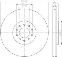 Комплект тормозных дисков TEXTAR 92220903 (2 шт.)