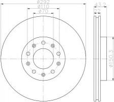 Комплект тормозных дисков TEXTAR 92221103 (2 шт.)