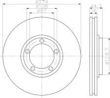 Комплект тормозных дисков TEXTAR 92221800 (2 шт.)