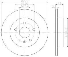 Комплект тормозных дисков TEXTAR 92222903 (2 шт.)
