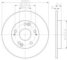 Комплект тормозных дисков TEXTAR 92224103 (2 шт.)