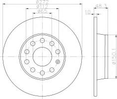 Комплект тормозных дисков TEXTAR 92224903 (2 шт.)