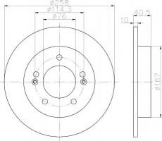 Комплект тормозных дисков TEXTAR 92226103 (2 шт.)