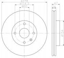 Комплект тормозных дисков TEXTAR 92227303 (2 шт.)
