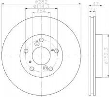 Комплект тормозных дисков TEXTAR 92227503 (2 шт.)