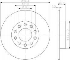 Комплект тормозных дисков TEXTAR 92230203 (2 шт.)