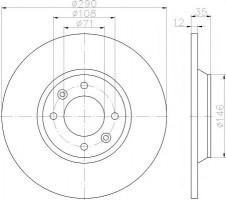 Комплект тормозных дисков TEXTAR 92231303 (2 шт.)