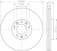 Комплект тормозных дисков TEXTAR 92232303 (2 шт.)