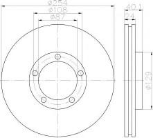 Комплект тормозных дисков TEXTAR 92234500 (2 шт.)