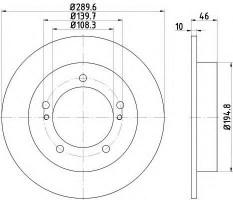 Фото товара 1 - Комплект тормозных дисков TEXTAR 92237300 (2 шт.)