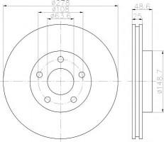 Комплект тормозных дисков TEXTAR 92237703 (2 шт.)