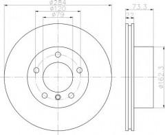 Комплект тормозных дисков TEXTAR 92238403 (2 шт.)