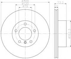 Комплект тормозных дисков TEXTAR 92238503 (2 шт.)